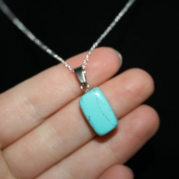 Beautiful Natural Turquoise Howlite necklace NwoT